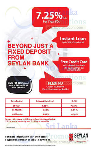 Featured image for Seylan Bank fr 6% p.a. Fixed Deposit Rates 27 Sep 2015