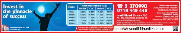 Featured image for Vallibel Senior Citizens Fixed Deposit Rates 13 Sep 2015