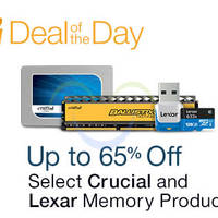 Crucial & Lexar Up To 65% Off Memory Products 24hr Promo 12 - 13 Oct 2015