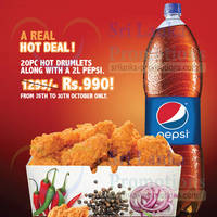 Read more about KFC Rs 990 20pc Hot Drumlets Promotion 26 - 30 Oct 2015