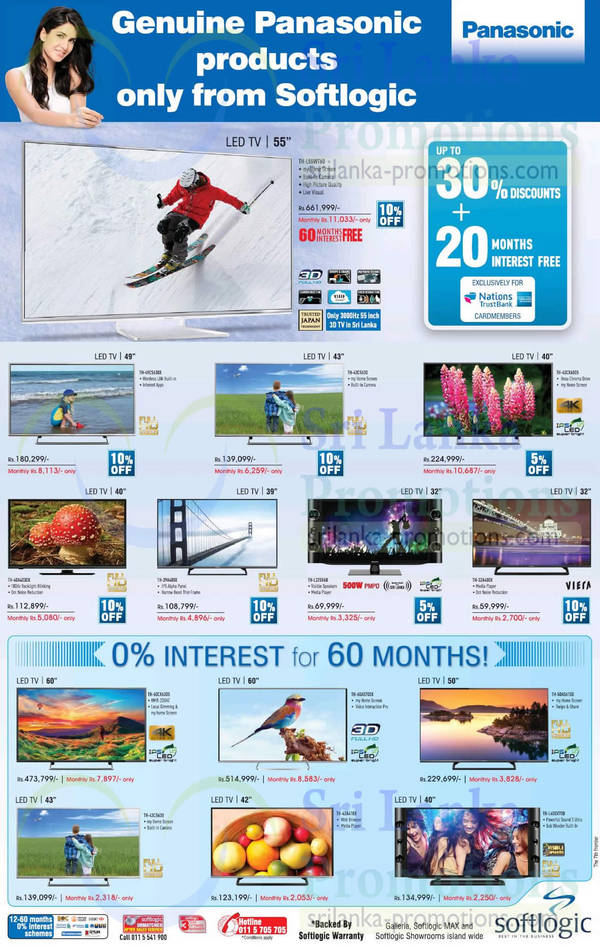 Featured image for Panasonic TV Offers @ Softlogic 12 Oct 2015
