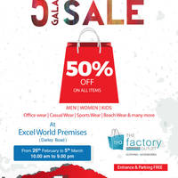 Read more about The Factory Outlet 50% Off Storewide Sale 26 Feb - 5 Mar 2016