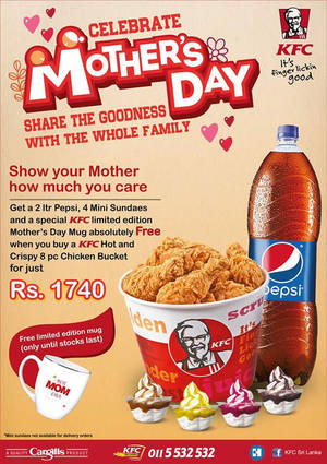 Featured image for KFC Rs. 1740 Mother's Day Combo Meal on 8 May 2016