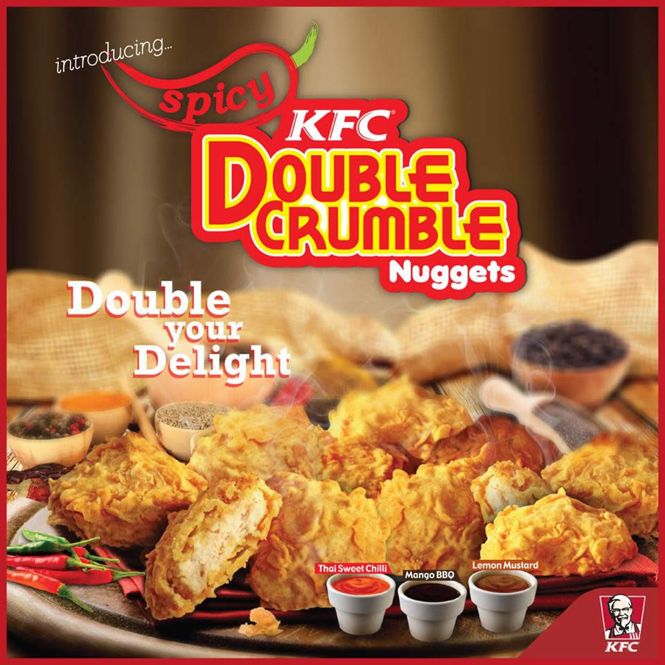 KFC: New Spicy Double Crumble Nuggets From 20 Jul 2016