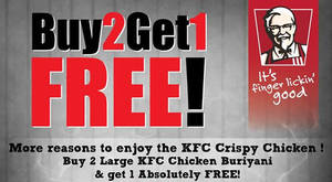 Featured image for KFC: Buy 2 Get 1 Free Chicken Buriyani at Selected Outlets from 30 – 31 Aug 2016