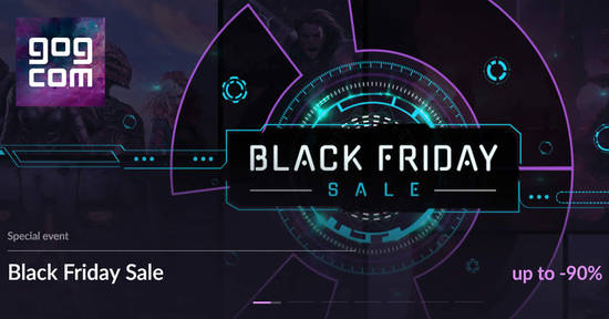 Featured image for GOG.com 500+ deals up to 90% off Black Friday x Cyber Monday sale now on till 27 November 2018